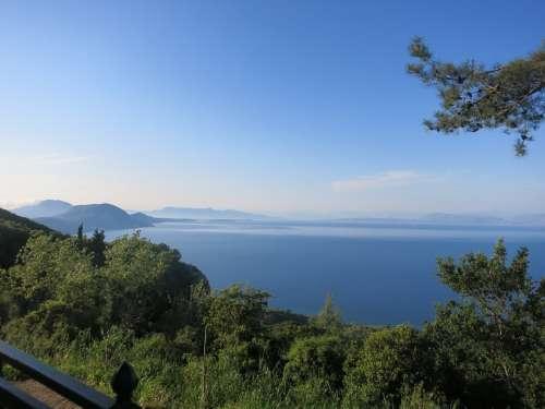 Corfu Greece Blue Sky