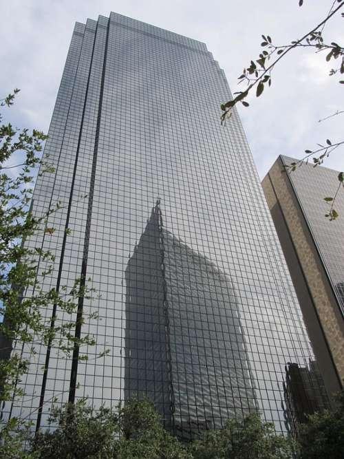 Corporate Skyscraper Windows Reflection Buildings