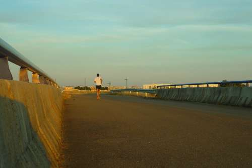 Corridor Athlete Bridge Gateway Sunset Career