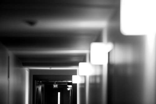 Corridor Indoor Lights Dark Gloomy Interior