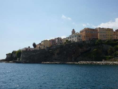 Corsica Coast Coastal Town Bastia Village France
