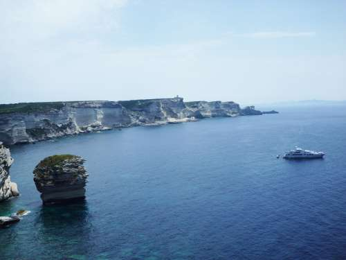 Corsica Cliff White Cliffs France Sea Outlook