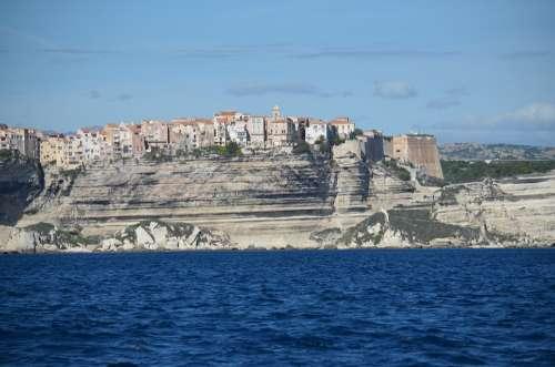 Corsica White Cliffs Cliff Bonifacio Coast France