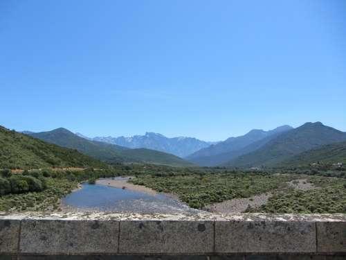 Corsica River Stones Mountains Nature