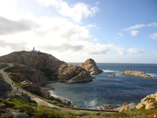 Corsican Calvi Creek Sea Fort Nature Path