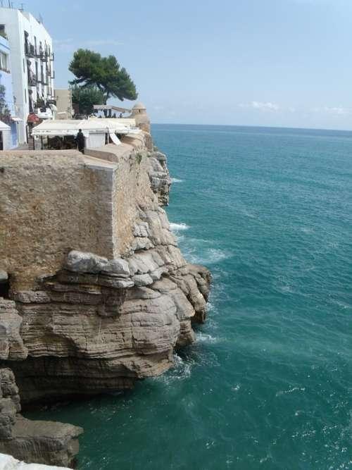 Costa Brava Sea Costa Cliff Summer Calm Calm Sea
