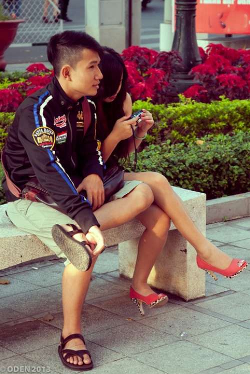 Couple Lover Saigon Vietnam Ho Chi Minh City City