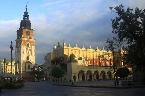 Cracow Krakow Poland Market Square Town Cloth