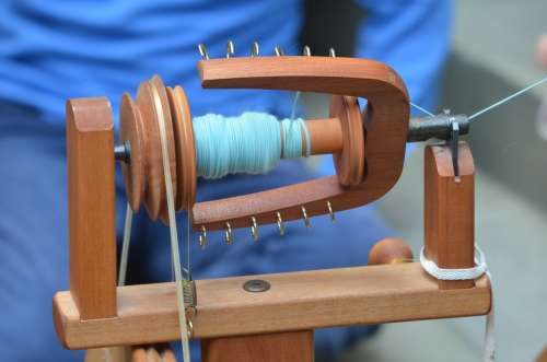 Craft Spin Spinning Wheel Hand Labor Clothing