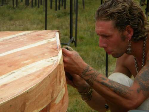 Craftsman Pirogue Canoe Woodwork Cedar Wolf Harvey
