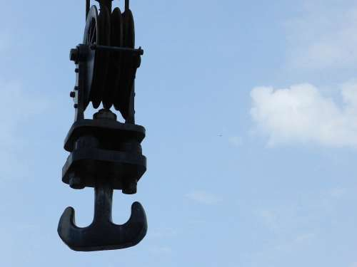 Crane Pulley Hook Construction