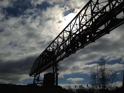 Crane Sky Silhouette Sun Winter Bethlehem Pa