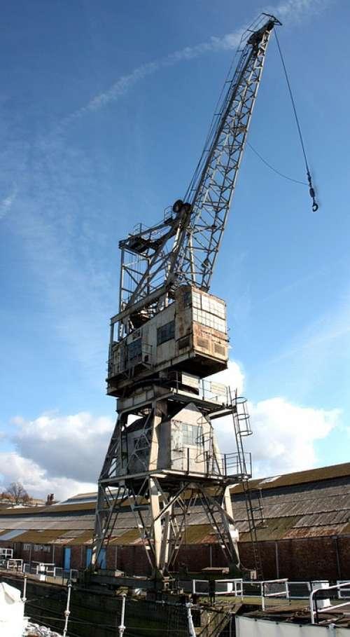 Crane Dockyard Shipyard Maritime Jetty Maintenance