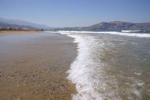 Crete Water Beach Greece Holidays Holiday
