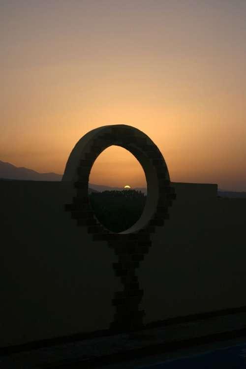 Crete Greece Sunset Landscape Summer