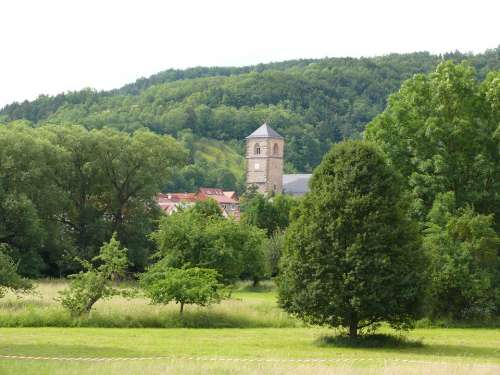 Creutzburg Place Werra Valley Thuringia Germany