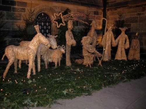 Crib Christmas Christmas Time Bethlehem Santa Claus