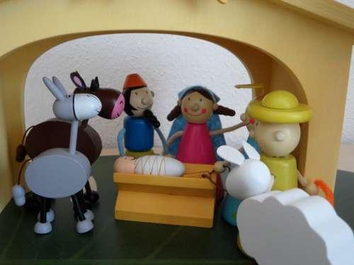 Crib Christmas Crib Figures Children Christmas