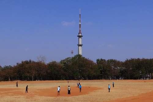 Cricket Sports Practice College Ground Dharwad