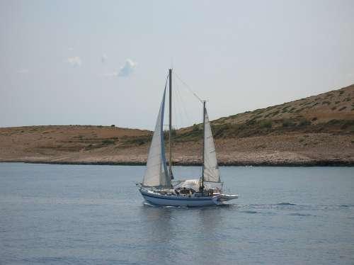 Croatia Mali Losinj Ship Sea Mediterranean