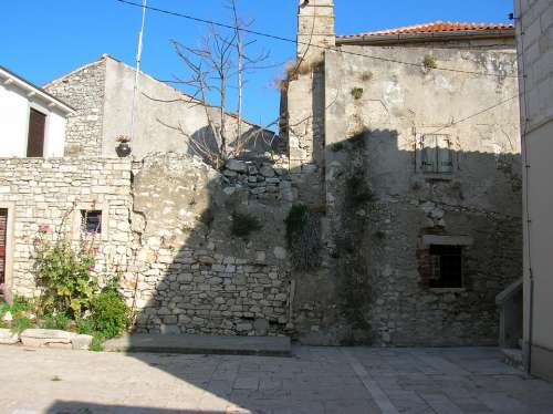 Croatia Susak Island Old Building Mediterranean