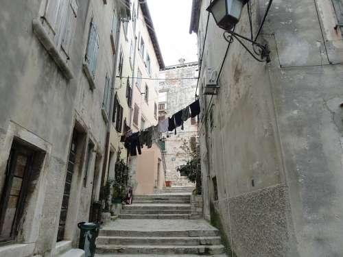 Croatia Istria Rovinje Historic Center Laundry