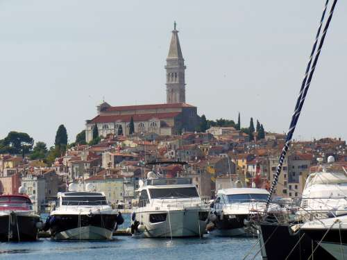 Croatia Rovinj Istria Ships Boats