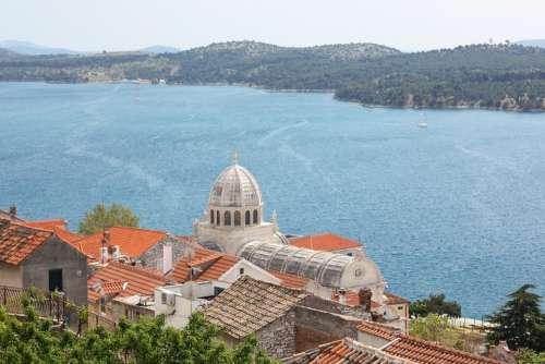 Croatia Sea Dalmatia Šibenik Landscape