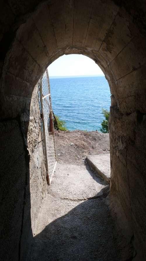 Croatia Podstrana Archway Sea View