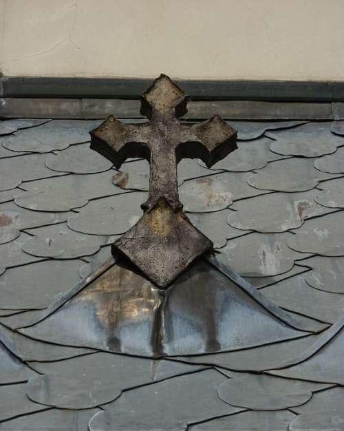 Cross Church Roof Sad Faith Church Atmosphere