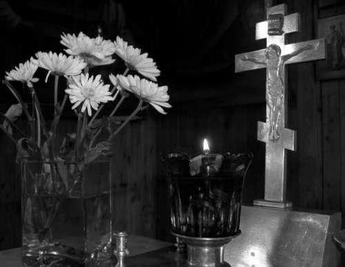 Cross Lamukka Flame Flower Bouquets Fire Crucifix