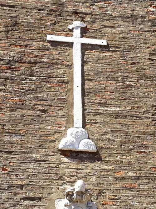 Cross Church Italy Wall Stone White Holy Faith