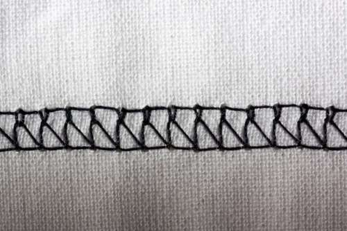 Cross Stitch Sewing Machine Embroidery Black White