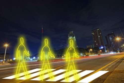 Crosswalk Traffic Cross Pedestrian