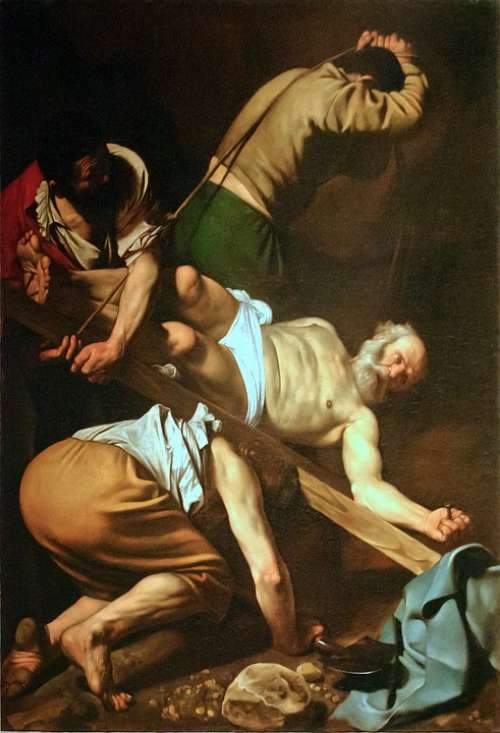Crucifixion Of St Peter Painting Caravaggio Church