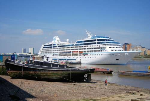 Cruise Liner Tourism Ocean River Thames Shipping
