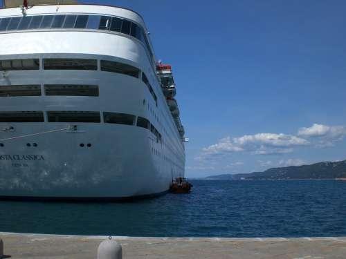 Cruise Ship Pier Cruiser Ship Trieste Port Italy