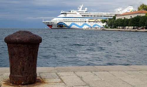 Cruise Ship Croatia Dalmatia Zadar Aida Port