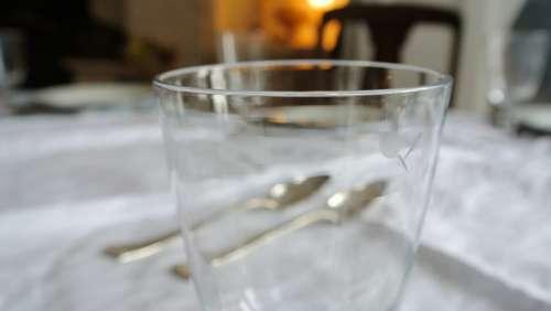 Crystal Silverware Dining Restaurant Macro