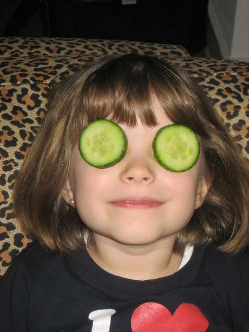Cucumber Mask Child Face Children'S Eyes Hidden