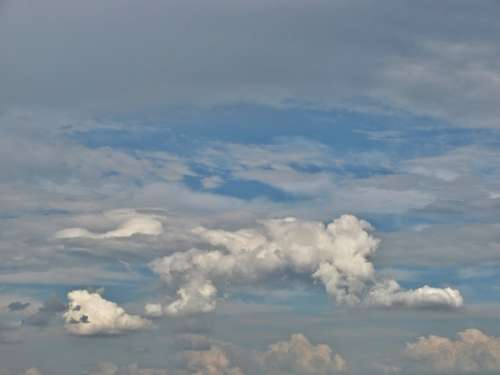 Cumulonimbus Cumulus Clouds Sky Weather Colors