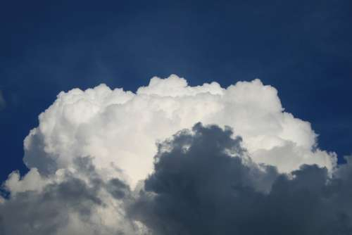 Cumulus Cloud White Steam Sky Blue