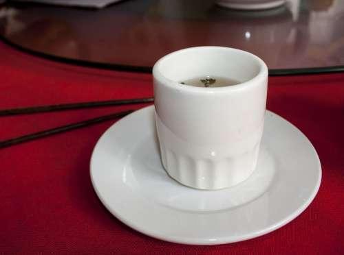 Cup White Cup Green Tea Drink Green Fresh Mug