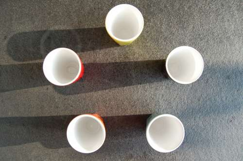 Cup Porcelain Color Italian Coffee Five Shadow