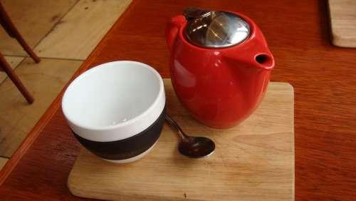 Cup Pot Teapot Tea Red Drink