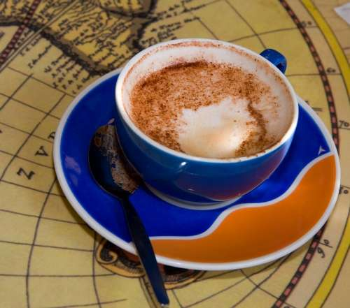 Cup Coffee Cup Saucer Coffee Drink Liquid Orange