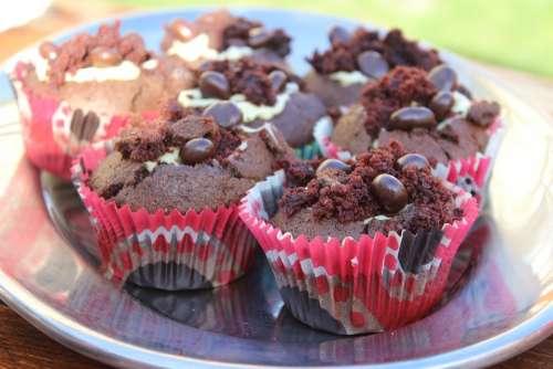 Cupcakes Sweet Bun Sweets Dessert Chocolate
