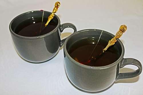 Cups Breakfast Cup Coffee Spoon Green Tea