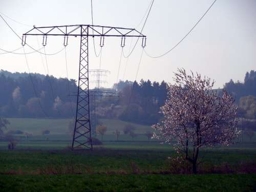 Current Electricity Power Line Upper Lines