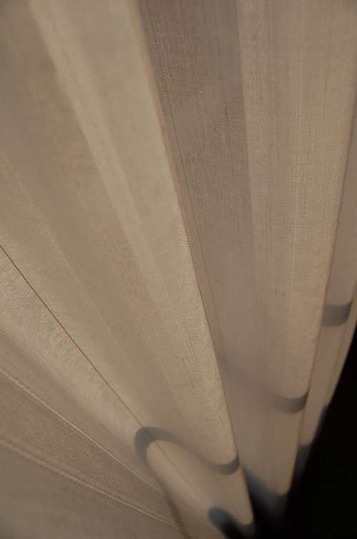 Curtain Fabric Tissue Wave Lines